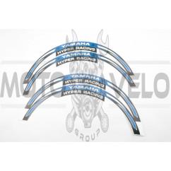 Наклейка на колесо 17/18 YMH (синяя) (#6058)