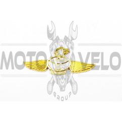 Наклейка шильдик TOYOTA (желтая) (#4989)