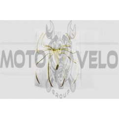 Наклейка декор SPIDER (желтая) (#4733)