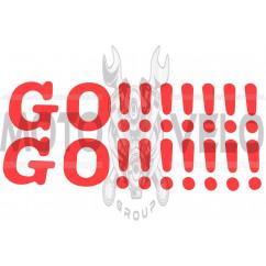 Наклейка декор GO!!!!!!! (41х9, красная) (#0498R)