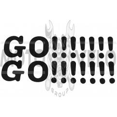 Наклейка декор GO!!!!!!! (41х9, черная) (#0498B)