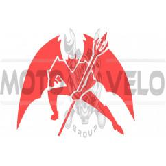 Наклейка декор DIABLO (16х16см, красная) (#1330)