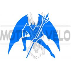 Наклейка декор DIABLO (16х16см, синяя) (#1330)