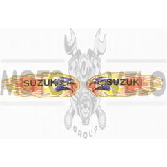 Наклейки (набор) SUZUKI (19х6см, красные) (#5794)