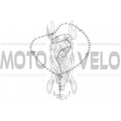 Наклейка декор CHAIN (16x14см, серебро) (#5622)