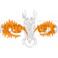 Наклейка декор EYES (18х6см, оранжевая) (#HQ5)