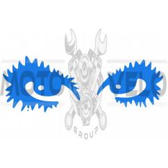 Наклейка декор EYES (18х6см, синяя) (#HQ5)