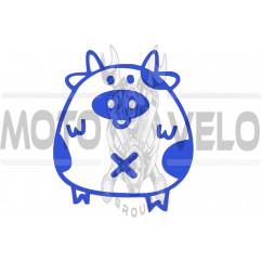Наклейка декор PIG (синяя) (#HQ5)