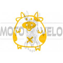 Наклейка декор PIG (желтая) (#HQ5)
