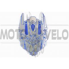 Наклейка шильдик TRANSFORMER (9х7см, синяя) (#4662B)