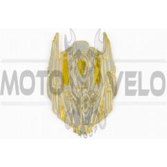Наклейка шильдик TRANSFORMER (9х7см, желтая) (#4662B)