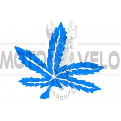 Наклейка декор GREEN (14х16см, синяя) (#0426)