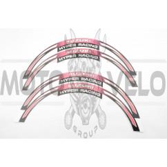 Наклейка на колесо 17/18 SZK (розовая) (#6057)