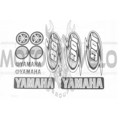 Наклейки (набор) Yamaha JOG (26х18см, 11шт, белая) (#7071C)