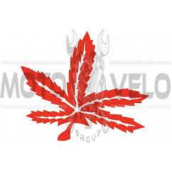 Наклейка декор GREEN (25х23см, красная) (#HQ426)