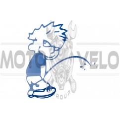 Наклейка декор BAD BOY (23х21см, синяя) (#HQ159A)