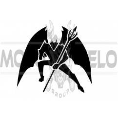 Наклейка декор DIABLO (13х13см, черная) (#5868)