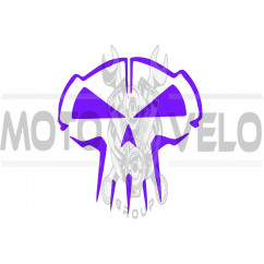 Наклейка декор SKULL (10x10см, фиолетовая) (#HQ5B)