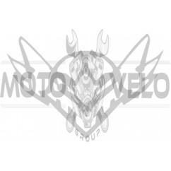 Наклейка декор FALCON (13х10см, белая)