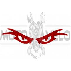 Наклейка декор EYES (23x6см, красная)