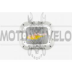 Наклейка на крышку бака SEDAN-KING SPORTS (13х13см, желтая) (#1625)
