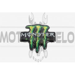 Наклейка   логотип   MONSTER ENERGY   (8x8см, силикон)   (#1)   (#SEA), шт