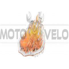 Наклейка декор FLAME (8х4,5см, силикон) (#SEA)