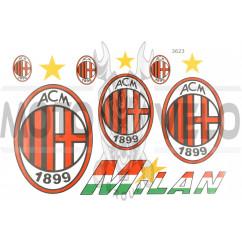 Наклейки (набор) спонсор MILAN (26х18см) (#3623)