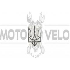 Наклейка   герб Украины   (8,5x5,5см, серебро, силикон)   (#SEA)