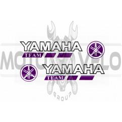 Наклейка логотип YMH (14x3см, 2шт, фиолетовая) (#6001)