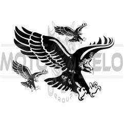 Наклейки (набор) EAGLE (35х27см, черный) (#0881)
