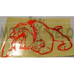 Наклейка   декор   DOG   (15x9cм, красная,, светоотражающая, левая)