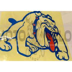 Наклейка   декор   DOG   (14x12cм, сине- красная, правая)