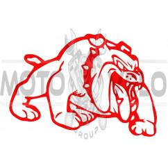 Наклейка декор DOG (13x10cм, красная, правая)