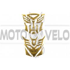 Наклейка шильдик TRANSFORMER (6x5см, алюминий, золото) (#4732)