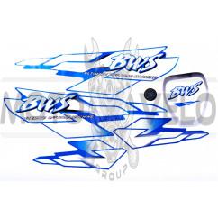 Наклейки (набор) BWS (синие) (#7311)