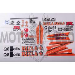 Наклейки (набор) SUZUKI (26х13см, красные) (#5)