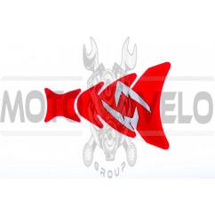 Наклейка на бак R (красная) (#5416G)
