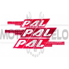 Наклейки (набор) PAL (45х23см, красные) (#0101)