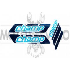 Наклейки (набор) CHAMPION (25х8см) (#0638)