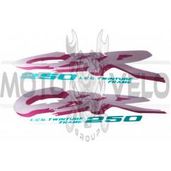 Наклейки (набор) CBR 250 (26х6см) (#0956)
