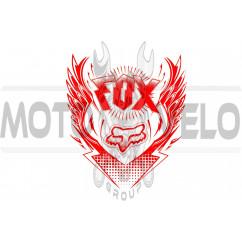 Наклейка логотип FOX (31x28см) (#5765)