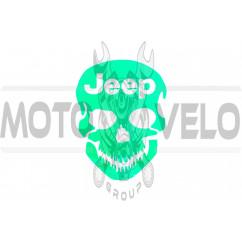 Наклейка логотип JEEP (16x13см) (#HQ092)
