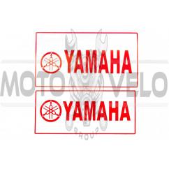 Наклейка декор YAMAHA (21x9.7см, белая) (#4299B)