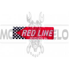 Наклейка шильдик RED LINE (13х4см, хром) (#4650)