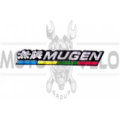 Наклейка шильдик MUGEN (16x3см) (#4521)