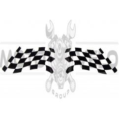 "Наклейка декор ""RACING FLAG"" (8х5см) (#SEA)"