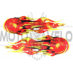 "Наклейки (набор) ""FLAME"" (10х15см) (mod:1) (#SEA)"