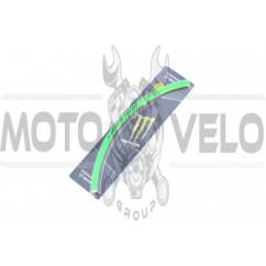 Наклейка на колесо 17 MONSTER ENERGY (зеленая, светоотражающая) (#6061)
