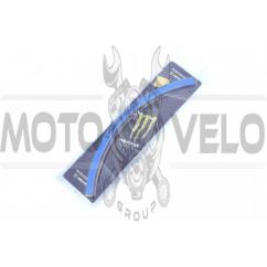 Наклейка на колесо 17 MONSTER ENERGY (синяя, светоотражающая) (#6061)